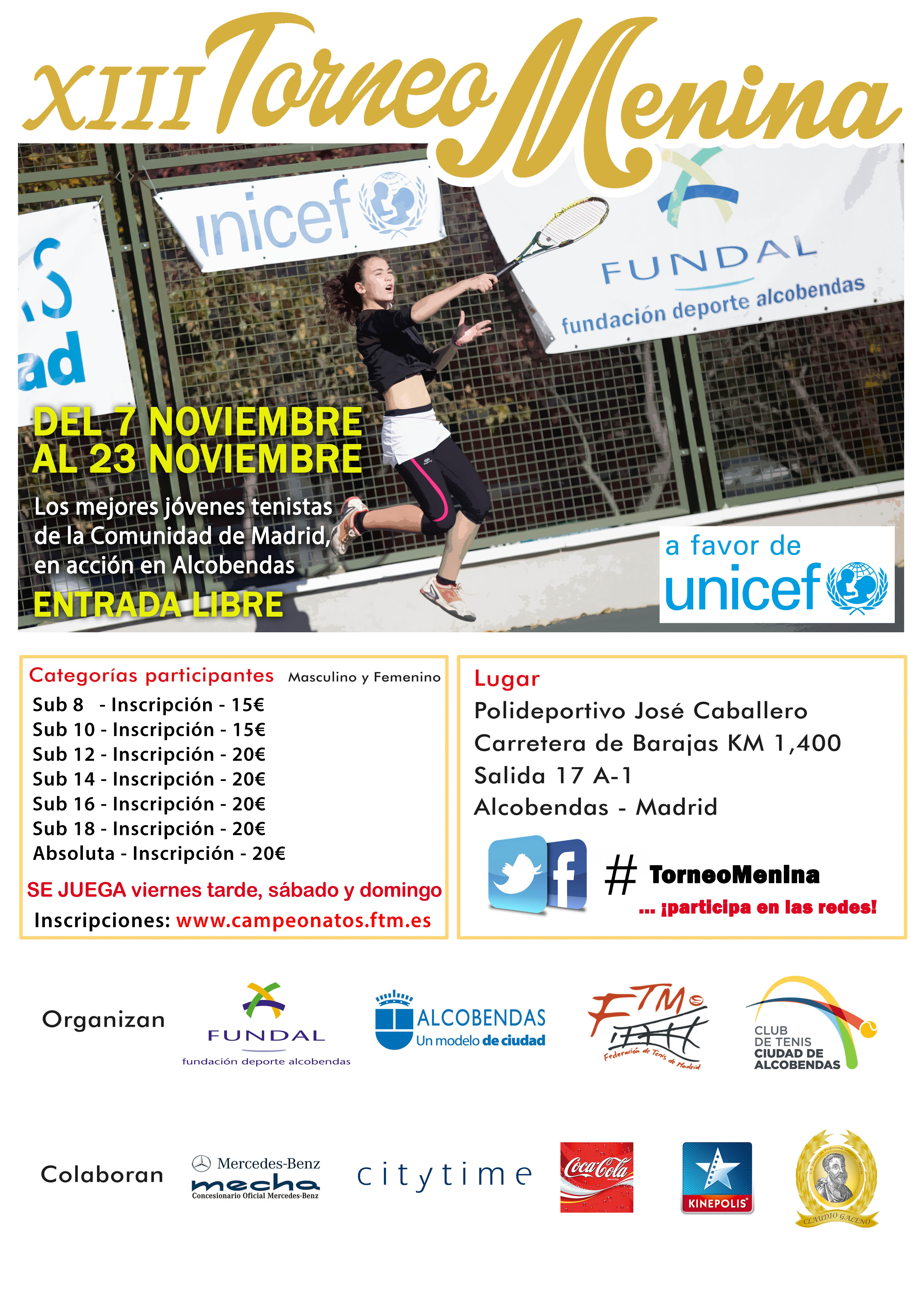 Cartel Torneo Menina 2014